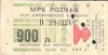 Bilet jednorazowego kasowania MPK Poznań