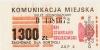 Bilet za 1300 zł z poza MPK Poznań