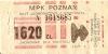 Bilet MPK Poznań za 1620 zł