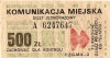 Bilet za 500 zł z poza MPK Poznań