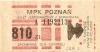 Bilet MPK Poznań za 810 zł