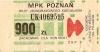 Bilet MPK Poznań za 900 zł