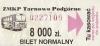 ZMKP Tarnowo Podgórne. Bilet normalny.