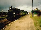Skład pociągu nr 7254 z powrotem na stacji Środa Wlkp. Wąsk.