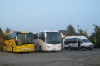 Solaris Vacanza 12 #PZ 0856E, Scania Irizar New Century #PZ 1431R i Kapena Iveco Daily 50C13 #PZ 9510F