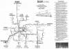 Plan Komunikaji Tramwajowej Poznania z ok. 1997r.