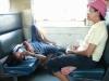 Tajlandia wnętrze pociągu